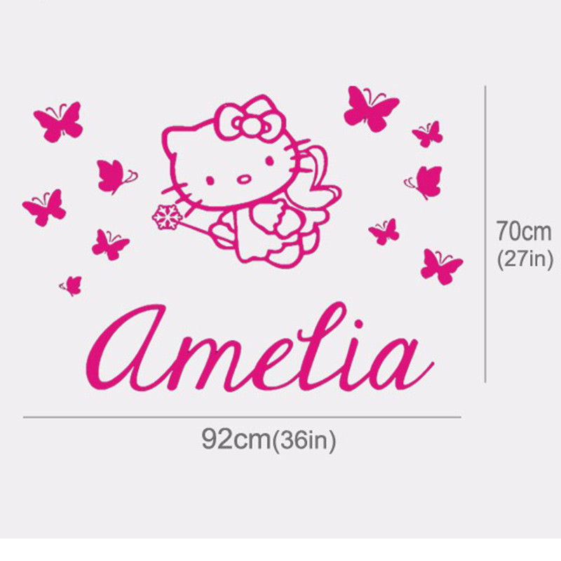 Hello Kitty Wall Sticker Part   40: Hello Kitty Wall Stickers Large Part 65