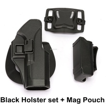 Tactical Pistol Belt Holster Quick Release Military Airsoft Shooting Holsters Hunting Belt Holster for Glock 17 19 22 23 31 32 tactical quick release automatic loading and locking waist thigh holster for glock