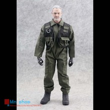 1:6 Scale Soldiers Model Clothing Pilot Uniforms Dark Green Jumpsuit For 12″ Action Figure Toys Model