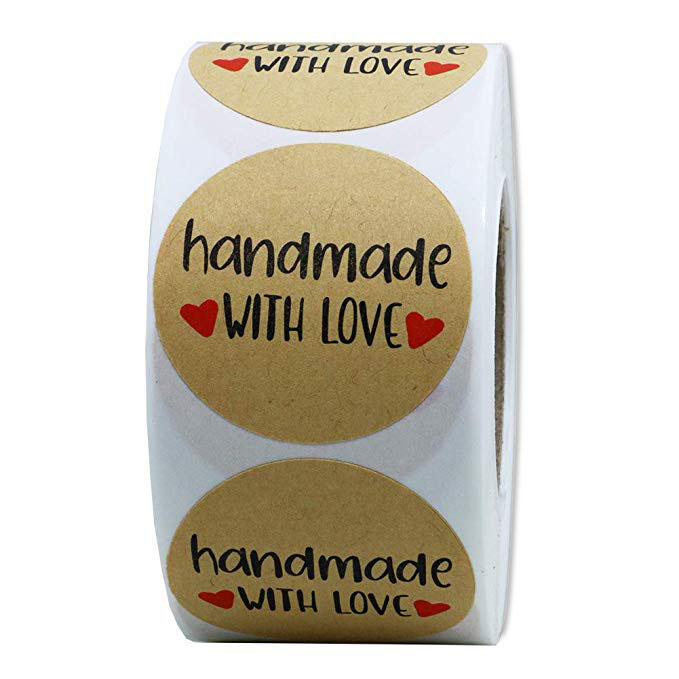 Wedding decoration for weddings handmade with love stickers for birthday party decoration thank you sticker 500pcs roll in Party DIY Decorations from Home Garden