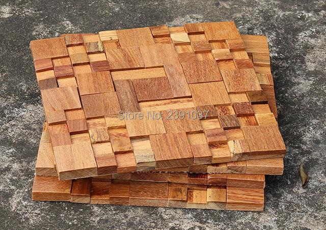 Classique en bois de style carreaux de mosa que mur for Pannelli adesivi 3d