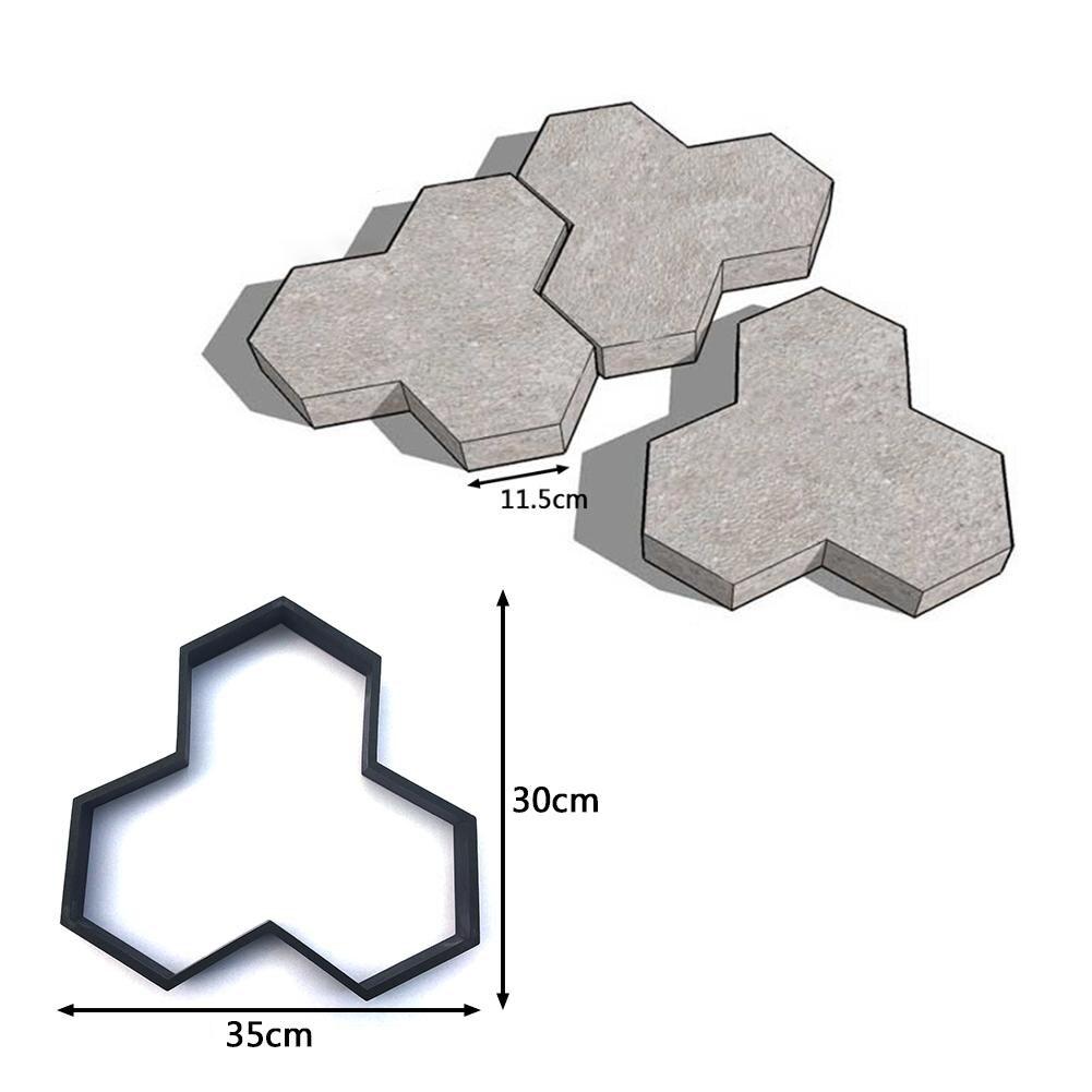 En forma de Y pavimentación molde DIY camino de ladrillo del molde ...