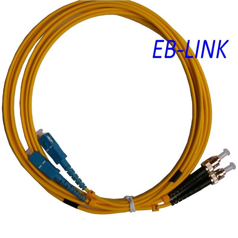 Оптическое волокно патч-корд кабель, SC / PC-ST / pc, 3.0 мм, одномодовый 9/125, дуплекс, SC ст 40 м