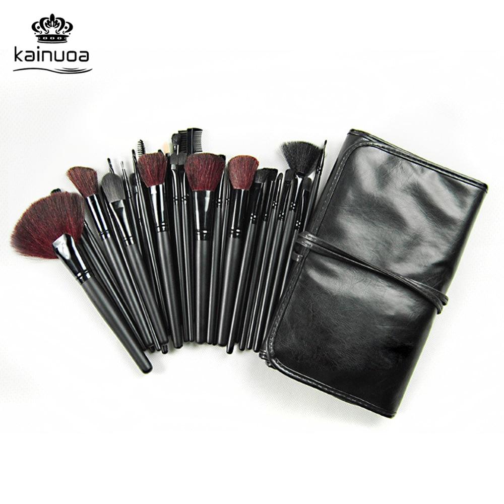 Kainuoa  Makeup Brushes Set 32pcs Black Wool Brush Foundation Brushes Blusher Cosmetic Tool PU Bag pincel maquiagem Beauty Brush 12 pcs cosmetic pu brush bag horsehair makeup brushes set