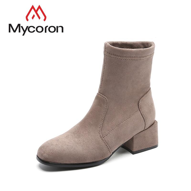 warm De Moda Chaussures Mujer Mano Femme Mycoron A warm winter Winter Hechas Tobillo Mujeres Damas Otoño Nieve Invierno 2018 Botas CIytwxSTq