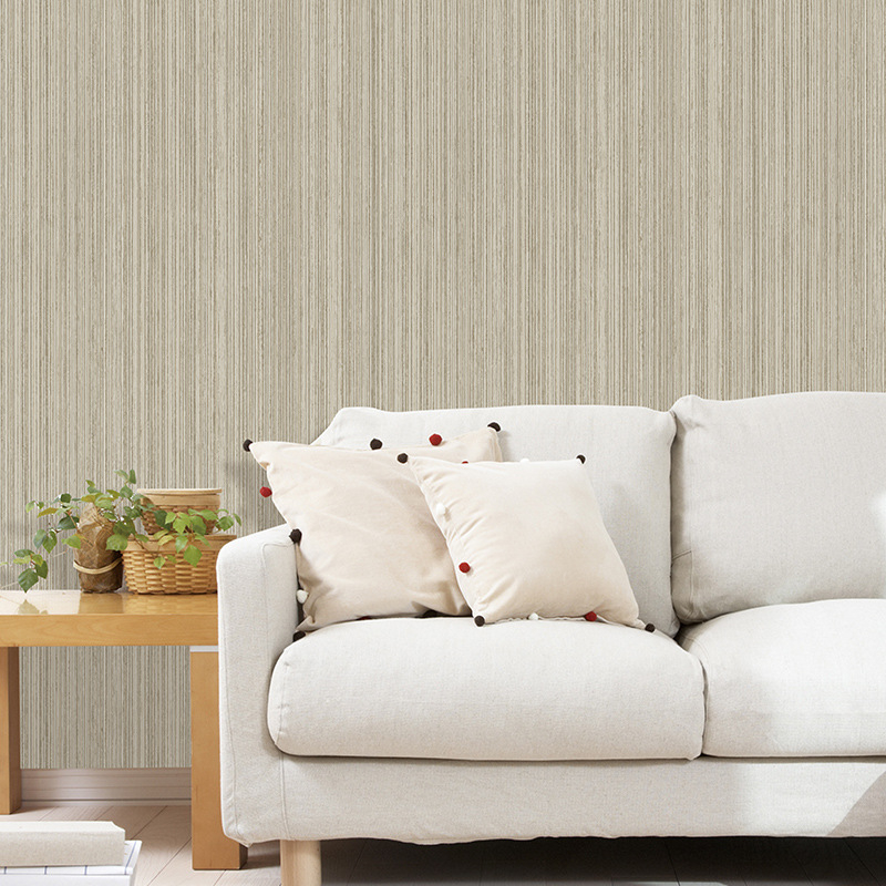 Beibehang wallpaper high quality 3D Retro wallpaper Beige yellow wallpaper bedroom living room background Personality stripes палатка campus antibes 3 beige yolk yellow