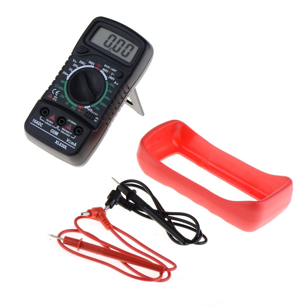1 STÜCK XL830L LCD-Digital-Multimeter Strom Spannung Widerstand Transistor hFE Multimetro multitester medidor dijital multimetre