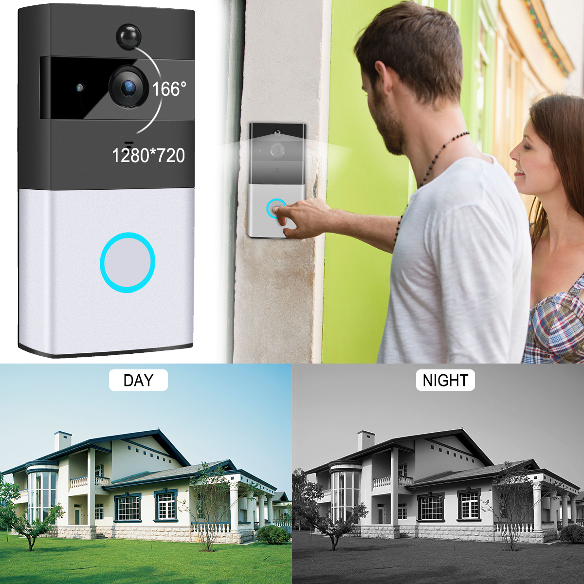 WiFi Smart Video Doorphone Wireless PIR Night Vision Doorbell Android IOS Smart Home Intercom System
