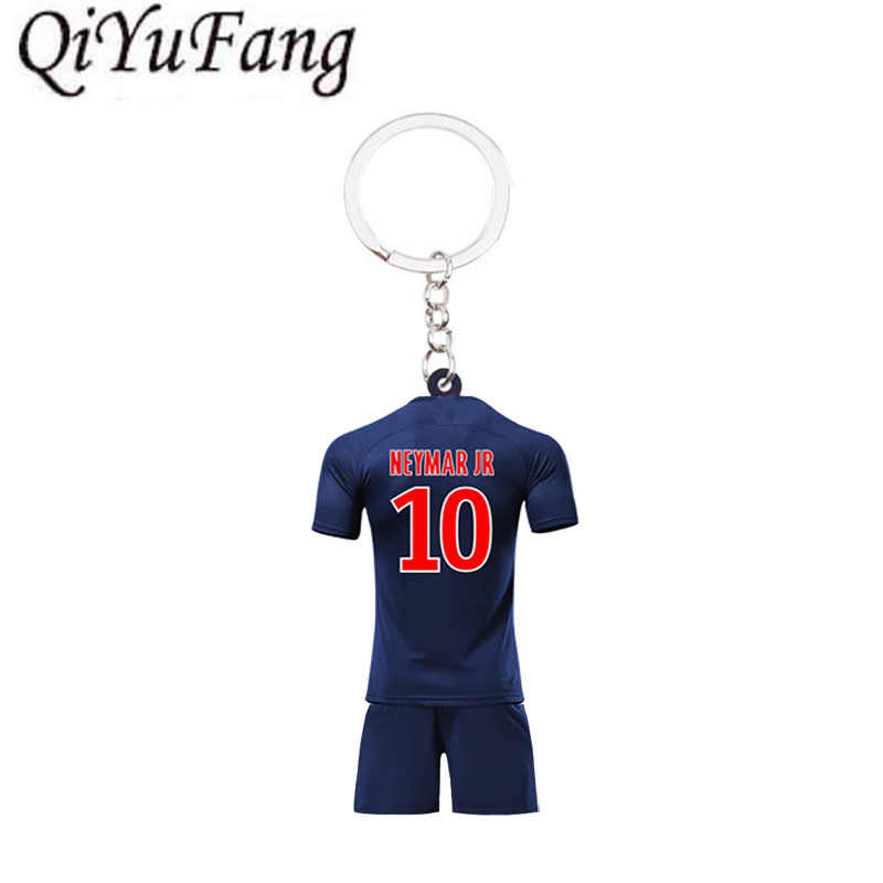 Qiyufang New Acrylic C.RONALDO Neymar Keychain Gift Men Football Women Love Soccer Star Messi Keychains CR7 Fans Purse Keyring