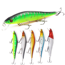 1PCS 14cm 23g Fishing Lure Minnow Swimming Crankbait Hard Bait Tight Wobble Slow Floating Fishing Tackle 2# hooks wlure 5 3g 8 3cm slim minnow lure very tight wobble slow sinking 2 6 treble hooks epoxy coating fishing lure m662