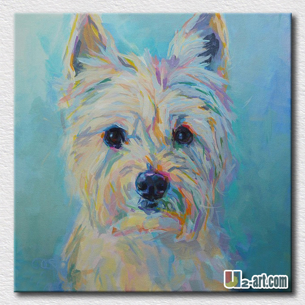 lovely animal art thick textured dog painting modern kids room wall art painting for friends - Animal Painting For Kids