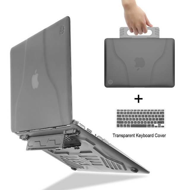 Unique multi-angle stand + portable matte case for the MacBook Air 13 inch A1369 A1466+Transparent keyboard cover