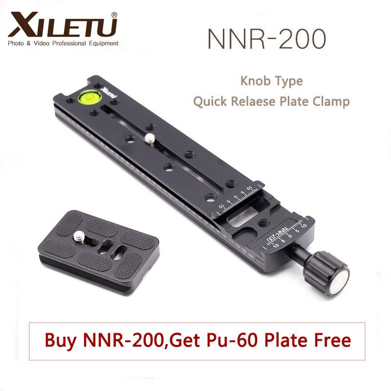 XILETU NNR-200 Multifunctional Lengthen Quick Release Plate Mounting Clamp Tripod Ball Head For Camera Arca Swiss Tripod