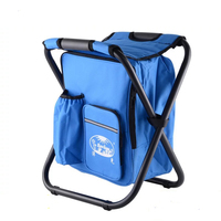 Portable ice pack with insulation bag can be back fishing stool beach chair light outdoor refrigerated folding stool chair