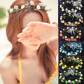 Hot Sale 19 Candy colors Women's Bohemian Floral Flower Rose Party Wedding Hair Wreaths Headband Hair Band