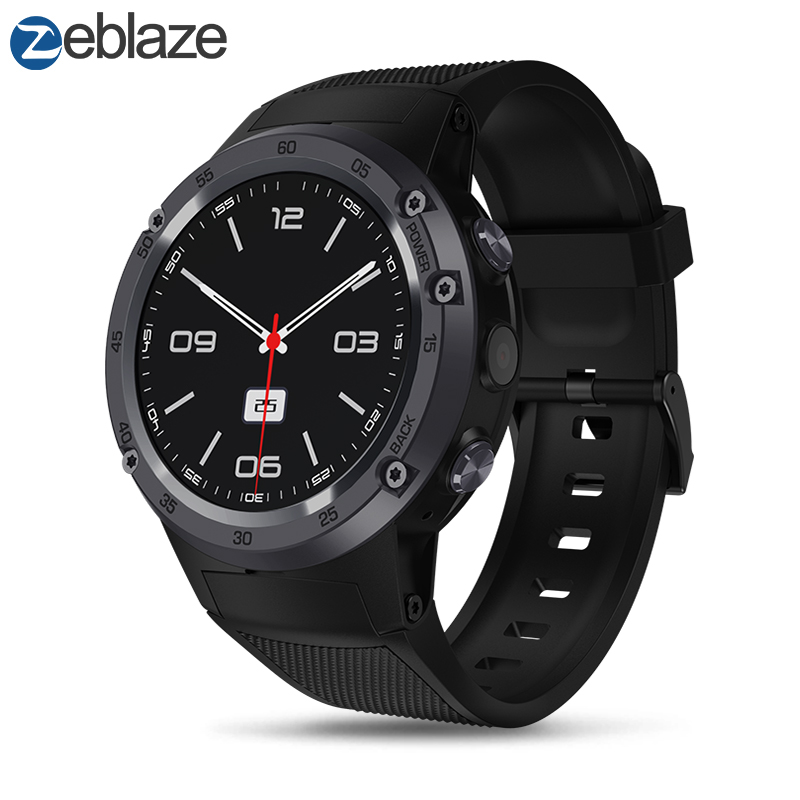 New Zeblaze THOR 4 Flagship 4G LTE SmartWatch Android 7.0 MTK6737 Quad Core 1GB+16GB 5.0MP 580mAh 4G/3G/2G GPS Smat Watch Men vernee thor 4g lte 5 0inch hd android 6 0 3gb 16gb smartphone