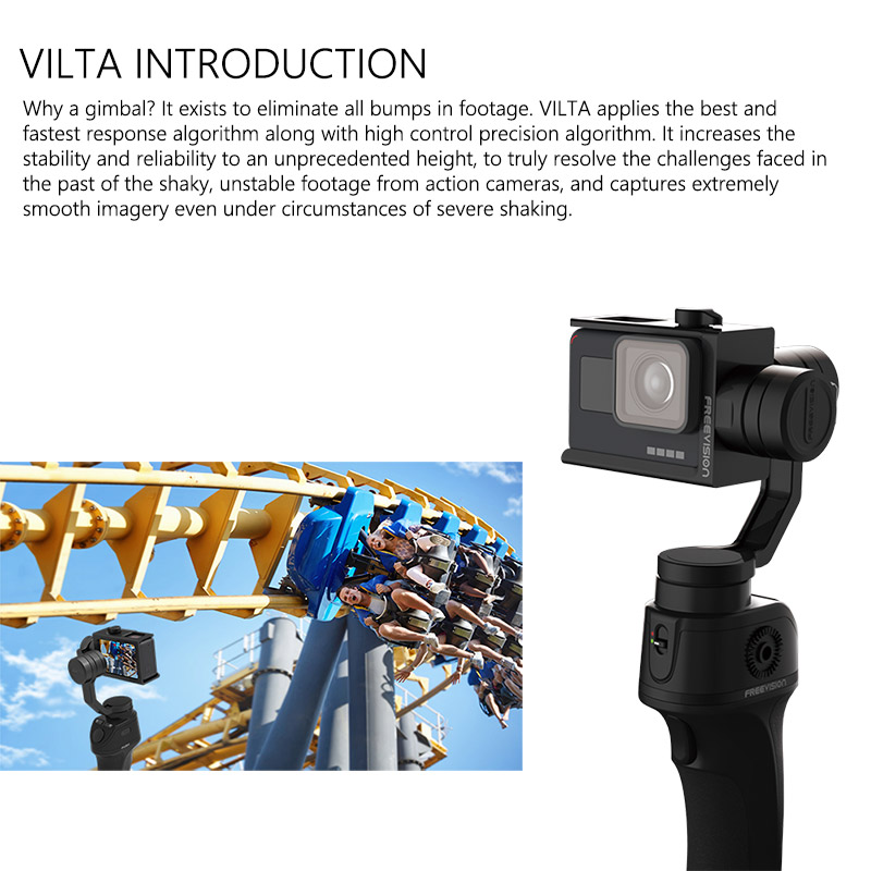 FreeVisinon VILTA Handheld 3 Axis Sports Camera Gimbal Portable Stabilizer for font b Smartphone b font