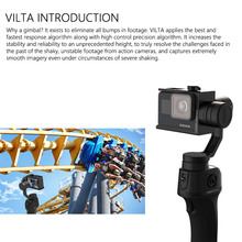 FreeVisinon VILTA Handheld 3-Axis Sports Camera Gimbal Portable Stabilizer for Smartphone iPhone 7 Plus 6 S7 Vertical Shooting