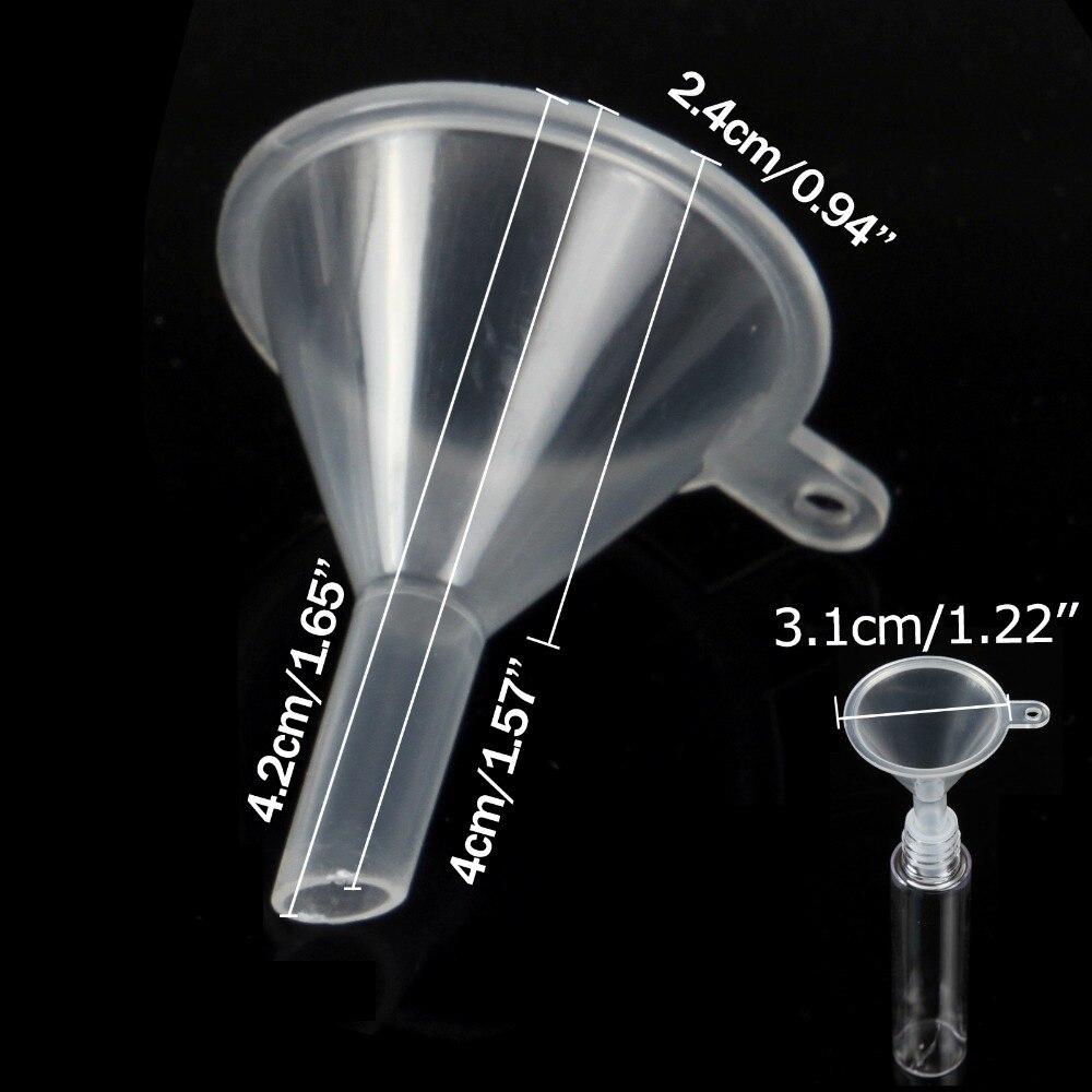 5pcs Mini Small Funnel Empty Bottle Packing Tool For Travel Plastic Mini Small Funnels For Liquid Essential Oil Splitter