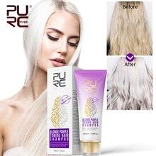 11,11 PURC 100 мл фиолетовый шампунь для светлых волос оздоравливающий блонд отбеленные и выделенные волосы бессульфат цвет обработанный шампунь