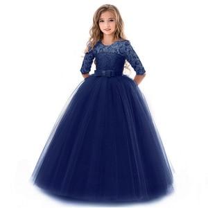 Image 3 - Vestido para meninas, vestido de festa de aniversário da menina flor banquete vestido primeiro vestido de festa de eucharsta vestido de festa pequena dama de honra vestido de festa de casamento