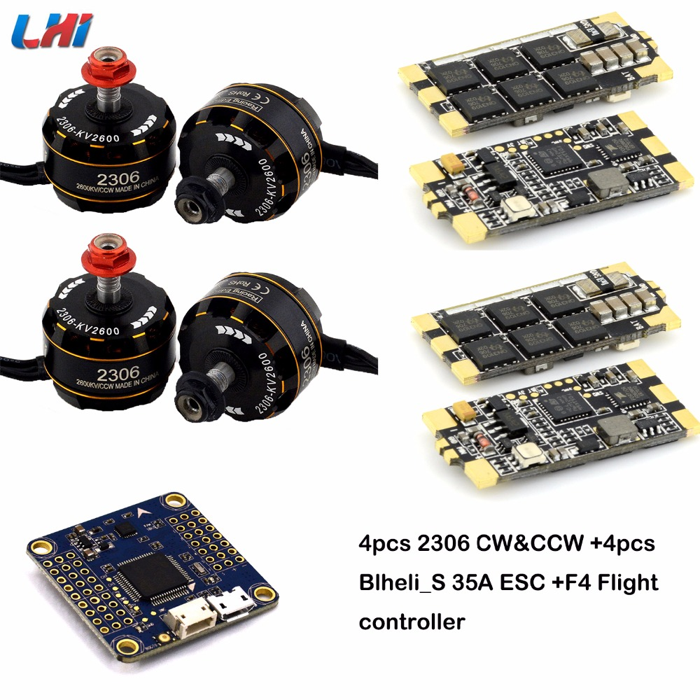 все цены на New 4pcs Brushless 2306 Motor FPV kv2600 CW/CCW F3 OMNIBUS/F4 Racing Flight Controller for QAV Drone FPV Racing Quadcopter онлайн