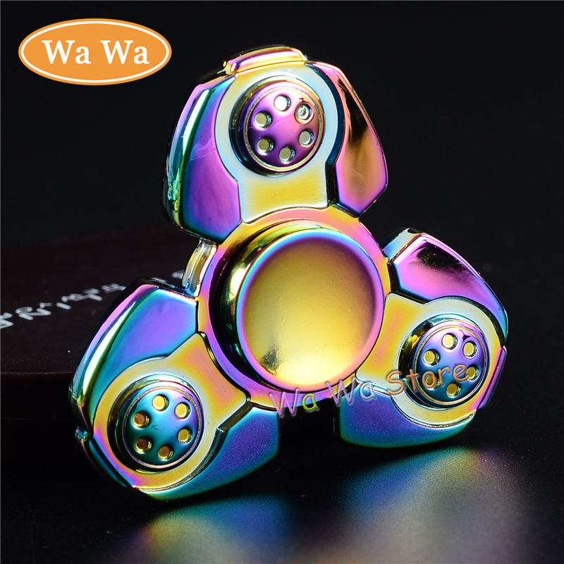 Hot Selling EDC Toys Triangular Hand Spinner High Quality Colorful Metal Hand Spinner ADHD Profession Tri