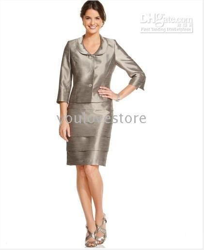 Women's Skirt Suits NEW! Three Quarter Sleeve Jacket & Tiered ...