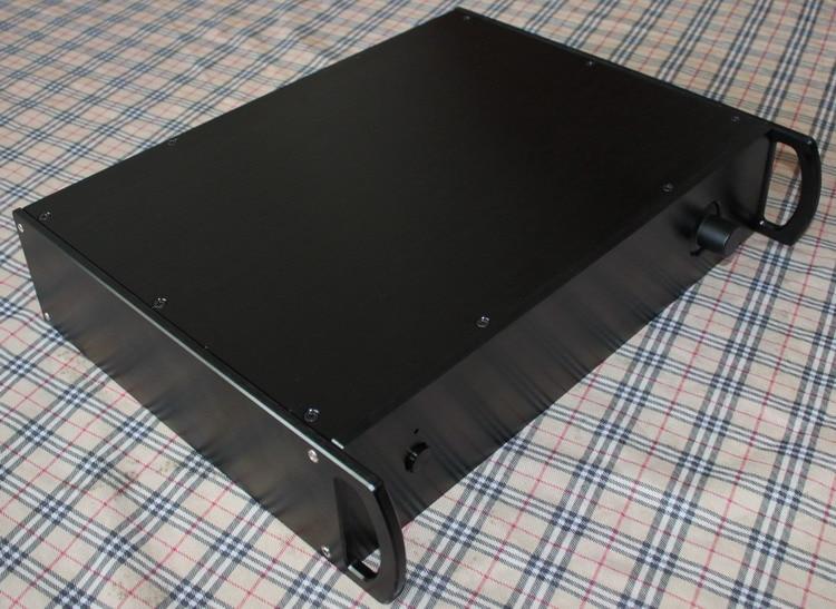 DIY amplifier case 425*92*310mm WA32 Full aluminum amplifier chassis / Tube amp / Pre-amplifier / AMP Enclosure / case / DIY box цена