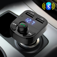 Super Bluetooth Car Kit Handsfree Set FM Transmitter MP3 Music Player 5V 4 1A Dual USB
