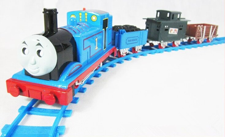 In Stock New Thomas Electric Train Track Risky Train Railway Rail Bridge Drop Play Set Toy For Kids Children's gifts Kids toy