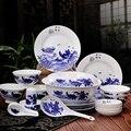 Рождественский набор из 56 предметов  королевская цветочная картина  тонкая кость  китайский набор посуды  фарфоровая тарелка  набор посуды