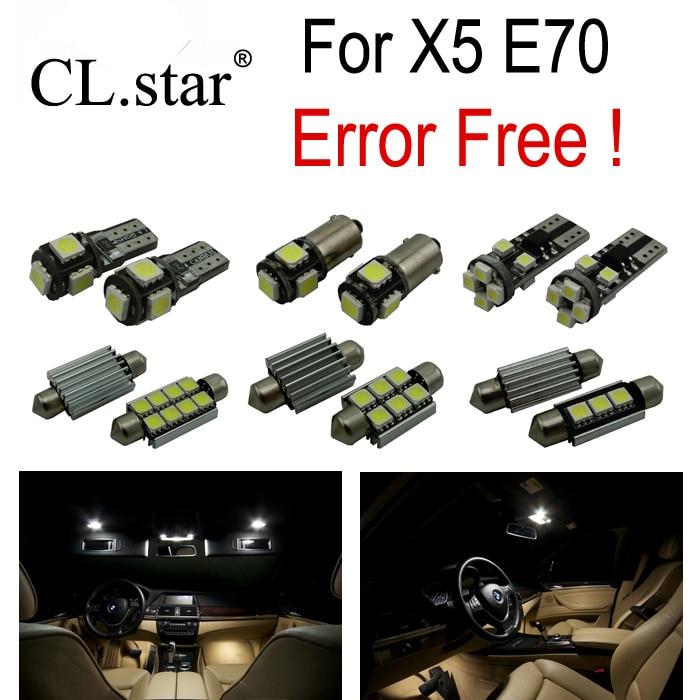 23pcs Error Free LED Bulb Interior font b Light b font Kit for BMW X5 E70