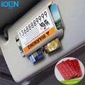 1 unid car sun visor organizador de almacenamiento de titular de la tarjeta para toyota bmw audi ford vw pegamento pegatinas del interior del coche tarjeta de estacionamiento tarjeta de crédito