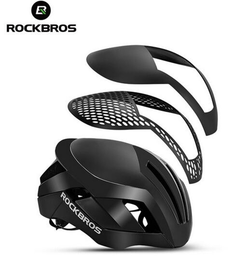 ROCKBROS MTB Road Bike Cycling EPS Reflective Helmet 3 in 1 Bicycle Men's Safety Helmet Integrally-Molded Pneumatic rockbros bicycle trainer roller training tool road bike exercise fitness station mtb bike trainer tool station 3 stage folding