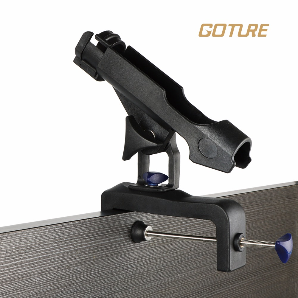 Goture fishing rod holder abs black boat rod holders for Fishing pole holders for boats
