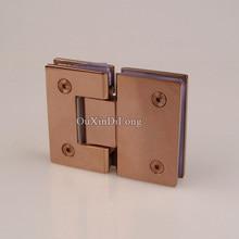hot 2pcs 304 stainless steel frameless shower glass door hinges 180 degree glass clamps holder brackets