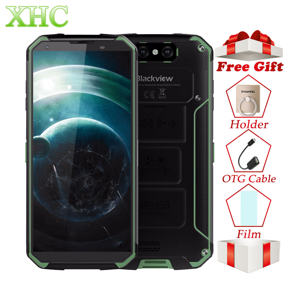 4g Blackview BV9500 5.7 pollici Del Telefono Mobile 4 gb + 64 gb Octa Core Android 8.1 16MP 13MP NFC OTG Dual SIM Smartphone Wilreless di Ricarica