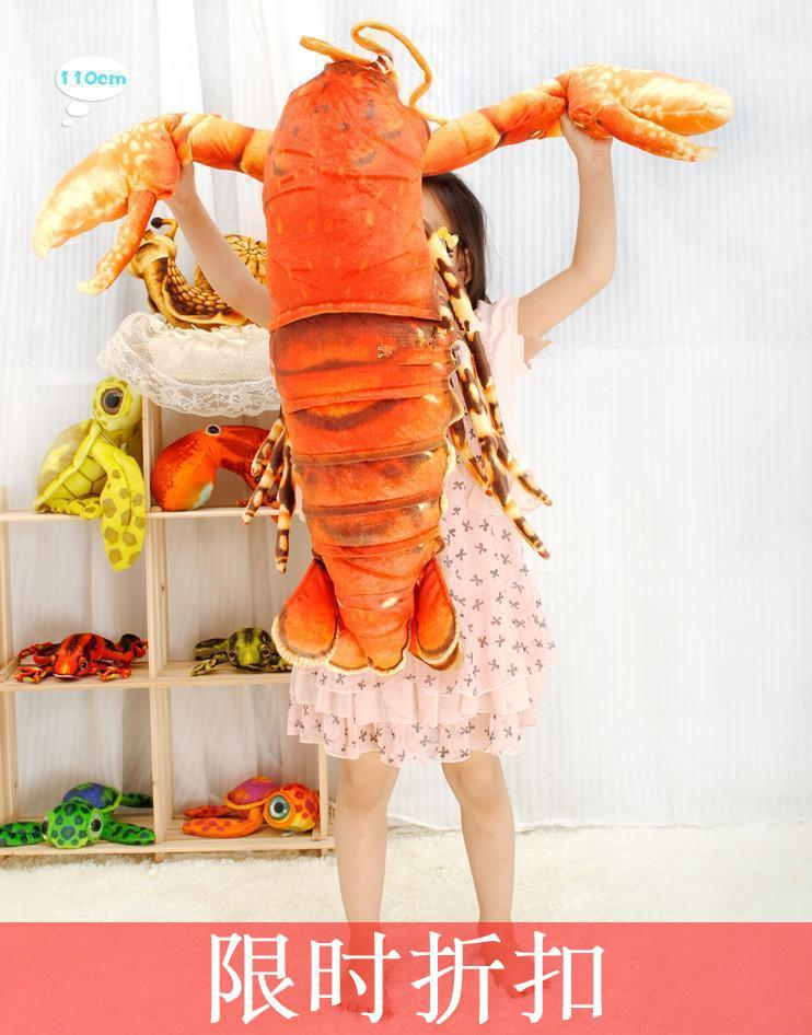 creative big plush lobster toy simulation red lobster doll gift about 110cm 0435 цена и фото