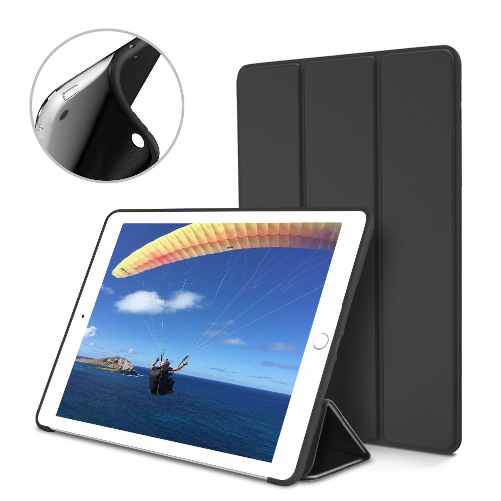 Case for 2017 Apple New iPad 9.7. PU leather cover+TPU soft silicone protection bottom shell-intelligent sleep wake up -YCJOYZW nice case for apple 2017 ipad air 1 new 2 cover 9 7 magnetic protect smart pu leather tpu silicone soft 360 rotating case cover
