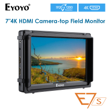 E7S 7 Inch Black 7 Inch Utra Slim IPS Full HD 1920x1200 4K HDMI On-camera Video Field Monitor for Canon Nikon Sony DSLR Camera