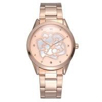 woman watches Disney brand ladies clocks luxury rose gold women's watch stainless steel waterproof diamond womens quarter watch
