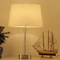 Tuda 무료 배송 현대 스타일 크리스탈 테이블 램프 현대 디자인 홈 장식 테이블 램프 led 책상 램프 로비 침실 연구 e27