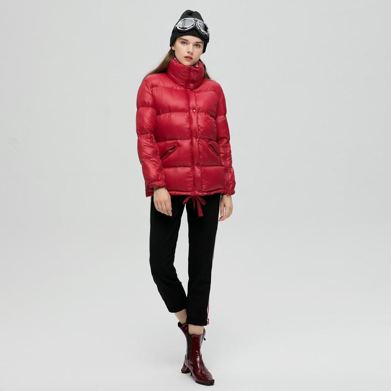 Nuovo Giacca Modo Warm Collare Cappotto Addensare Più Nero Yo687 2018 Donne Fluffy Autunno Femminile Breve Bio Basamento Ynzzu Inverno Del Di Parka rosso Il Casual Rq5w7E