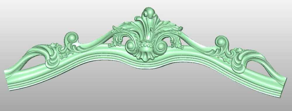 3D model STL format file for cnc router engraving furniture sofa cabinet chair leg pattern Artcam 809