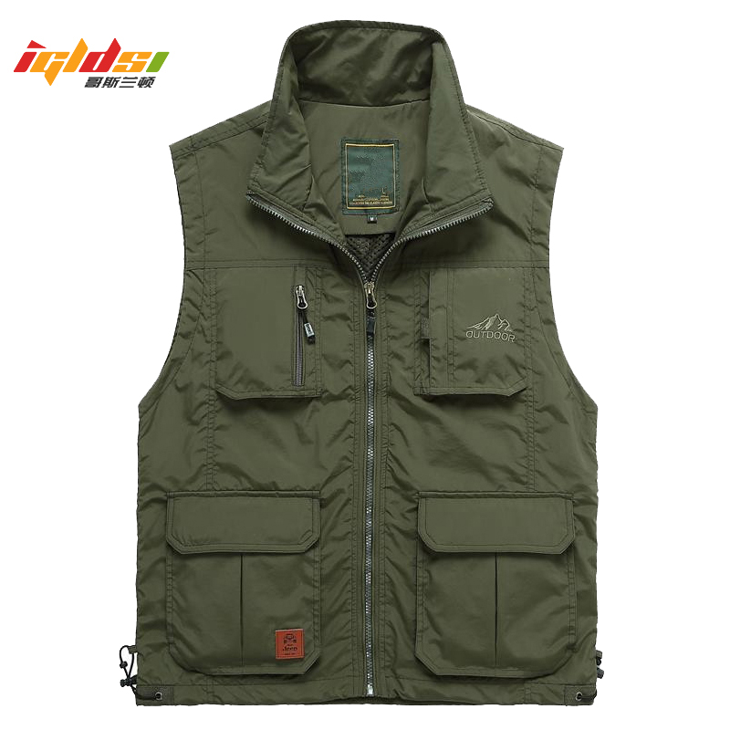 Multi Pocket Mesh Thin Summer Men Vest With Many Pockets Casual Photographer Work Outerwear Sleeveless Jacket Male Waistcoat