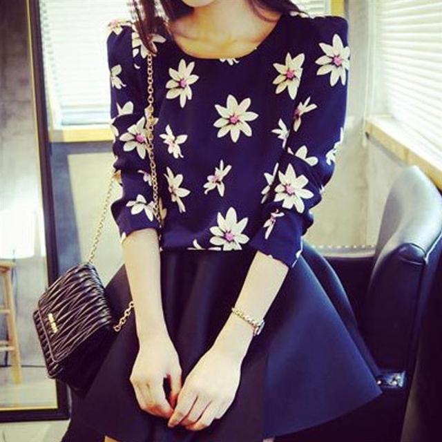 ca9be33ac33 Blusas Femininas 2016 Moda Mujer blusas Ropa Femenina ropa Formal Marca  Tops de Gasa blusa ocasional