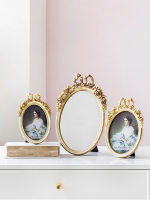 Retro Light Luxury Bow Resin Photo Frame Picture Frame Mirror Home Decoration Decoration Gifts