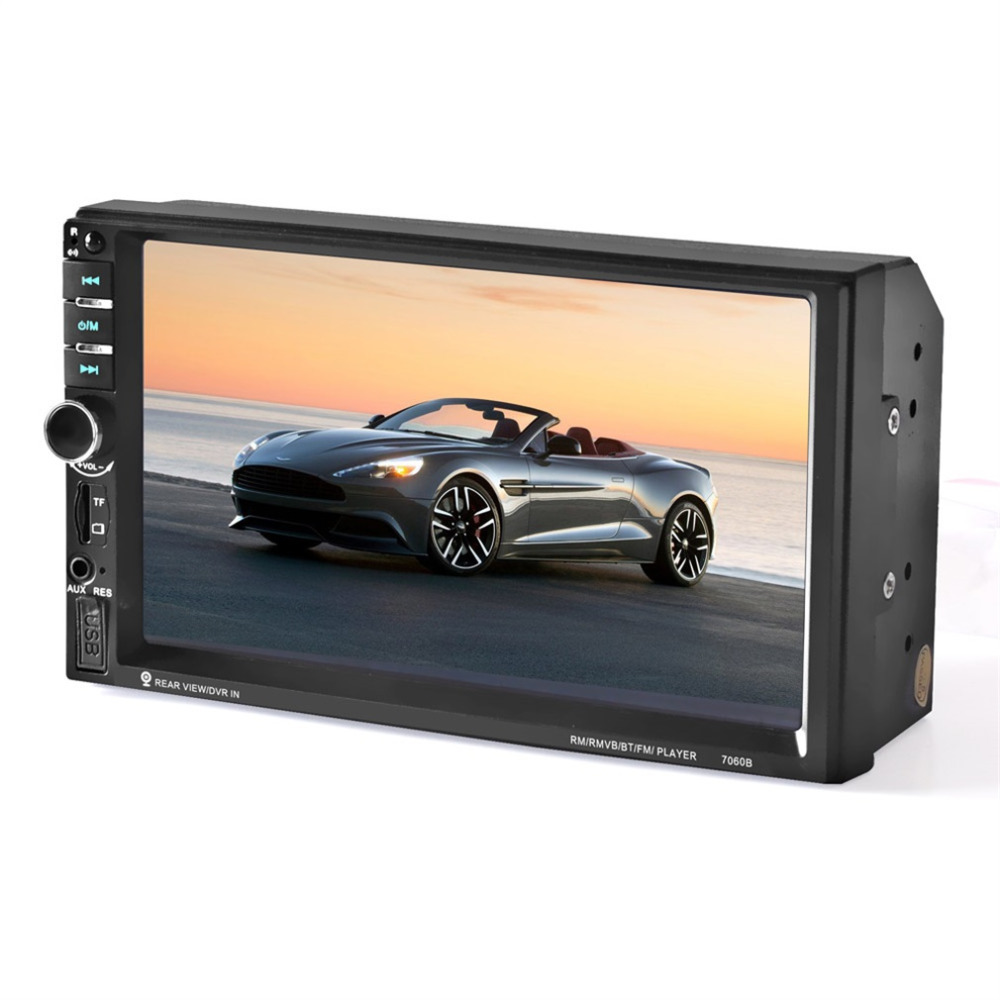 2017 New 7060B 7 inch Bluetooth Vehicle Auto Car MP5 Video Player In Touch Screen Support MP3 USB TF AUX FM & Remote Control