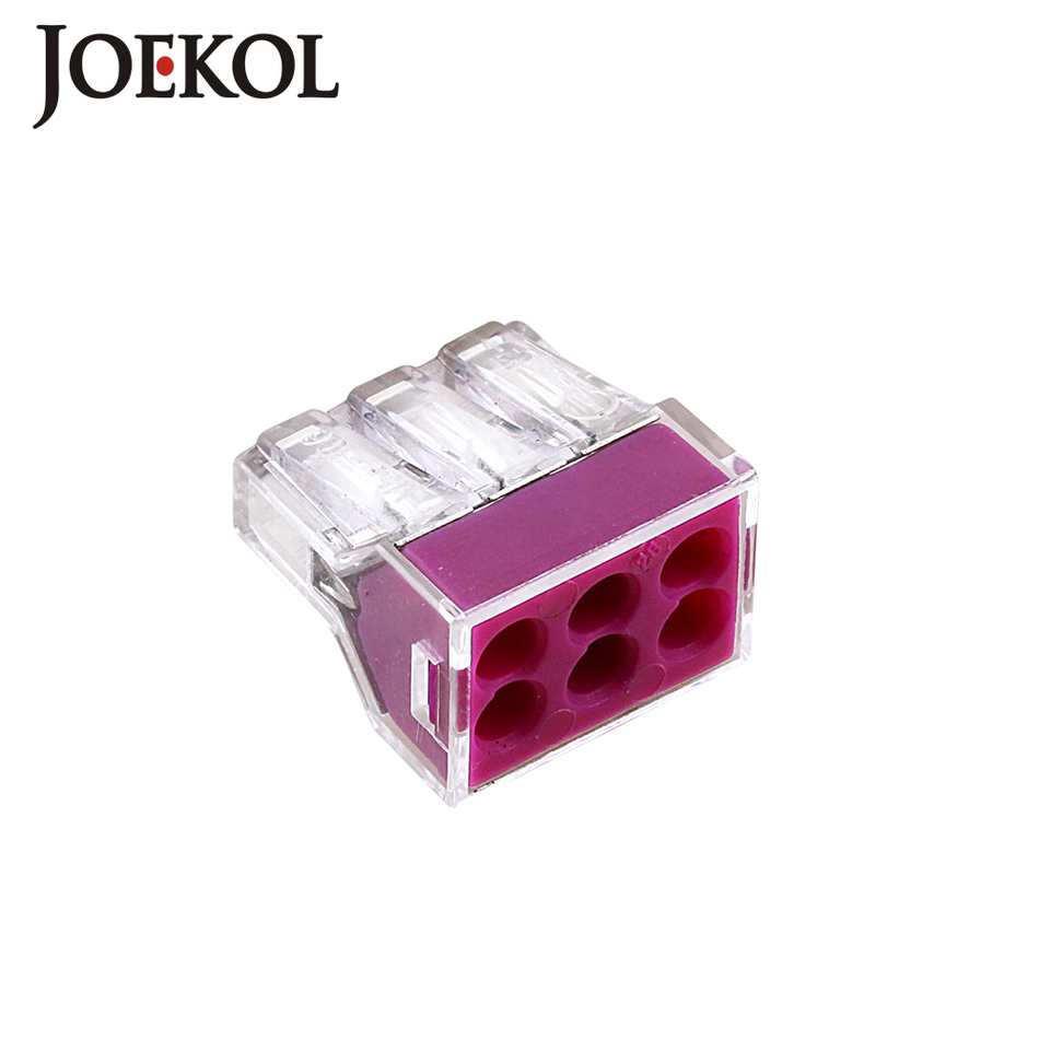 (10pcs/lot) 773-106 Building wiring terminal connector <font><b>6Pin</b></font> <font><b>wire</b></font> connector 0.75-2.5mm2 image